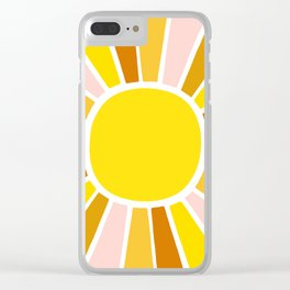 Golden Sunshine Clear iPhone Case