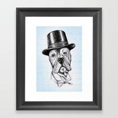 I'm too SASSY for my hat! Vintage Pup. Framed Art Print