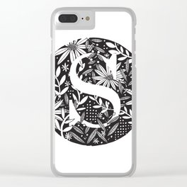 S Monogram Clear iPhone Case