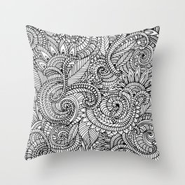 lots of pattern Throw Pillow