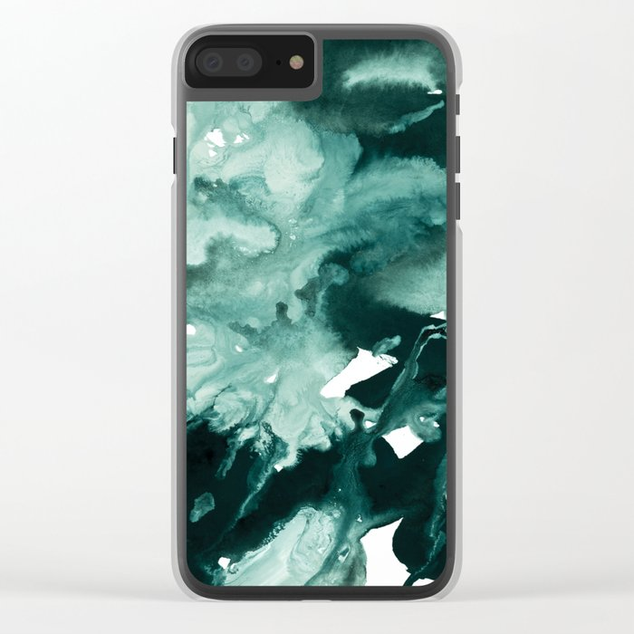 inkblot marble 4 Clear iPhone Case
