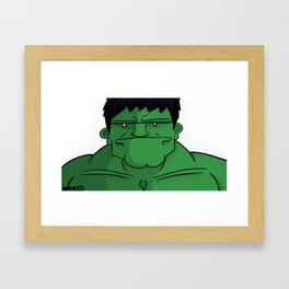 The Hulk Framed Art Print