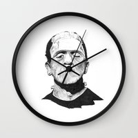 frank Wall Clocks featuring Frank by Aleishajune