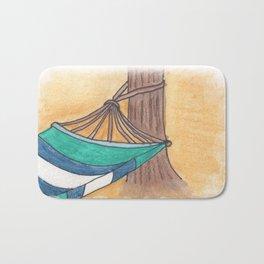 Just Swaying Away-Watercolor Hammock Design Bath Mat