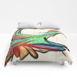 Aquarela bird Comforters