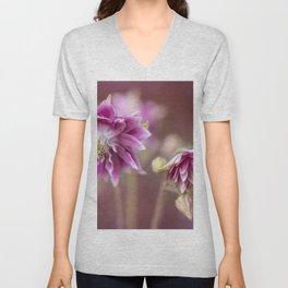 Light pink columbine flowers Unisex V-Neck