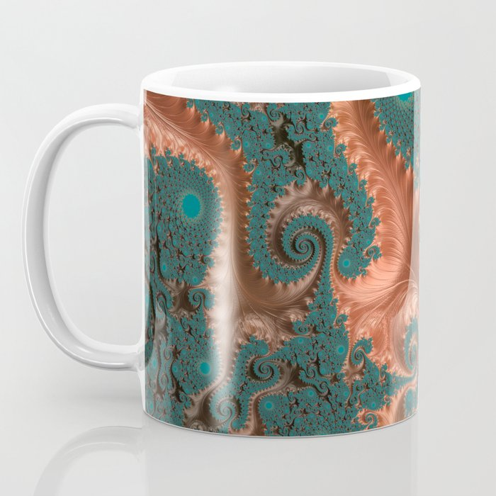Copper Leaves - Fractal Art Coffee Mug