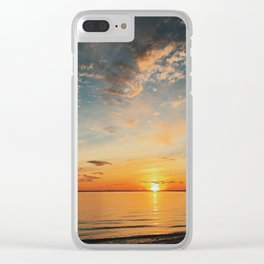 North Shore Sunset Clear iPhone Case