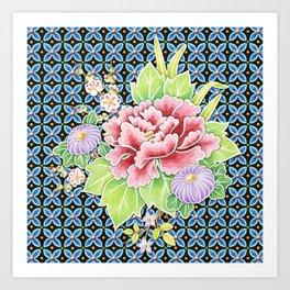 Brocade Bouquet Art Print
