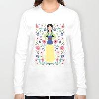 mulan Long Sleeve T-shirts featuring Mulan by Carly Watts