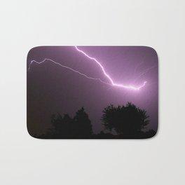 Purple Lightning Night Sky Bath Mat