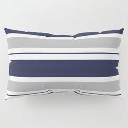 Navy Blue and Grey Stripe Pillow Sham