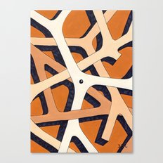 Mono Pattern | The Branches Canvas Print