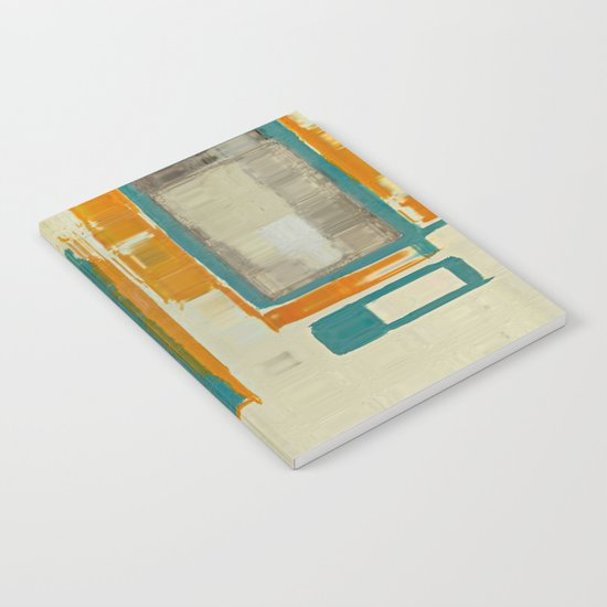 Mid Century Modern Blurred Abstract Notebook
