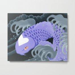 Love Koi Pastel Purple Metal Print