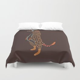 Abstract Meerkat Duvet Cover