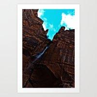 Zion Emerald Falls Art Print