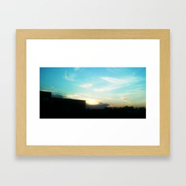 Dreaming blue Framed Art Print