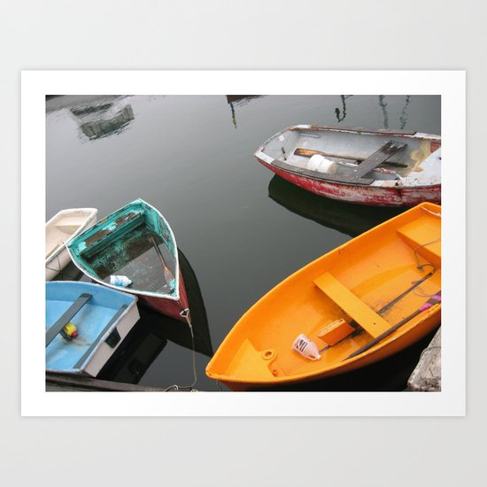 Rockport Rowboats 2 Art Print