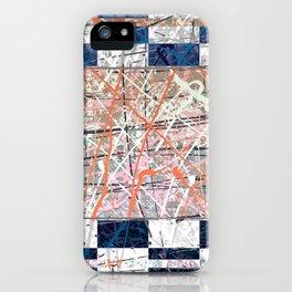 Flight of Color - blue geometric iPhone Case