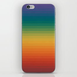 Colorful Stripes Abstract Rainbow Pattern Trendy Colors iPhone Skin