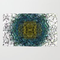 geode Area & Throw Rugs featuring Geode Abstract 01 by Charma Rose