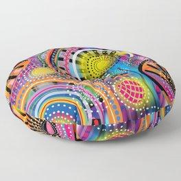 Biology of Lovers on a Rainy Night (Horizontal) Floor Pillow