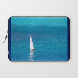 Perfect Blue Sailing Day Laptop Sleeve