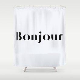 63. Hello Shower Curtain