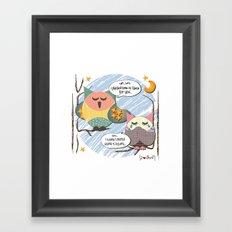 I {❤} OWL Framed Art Print