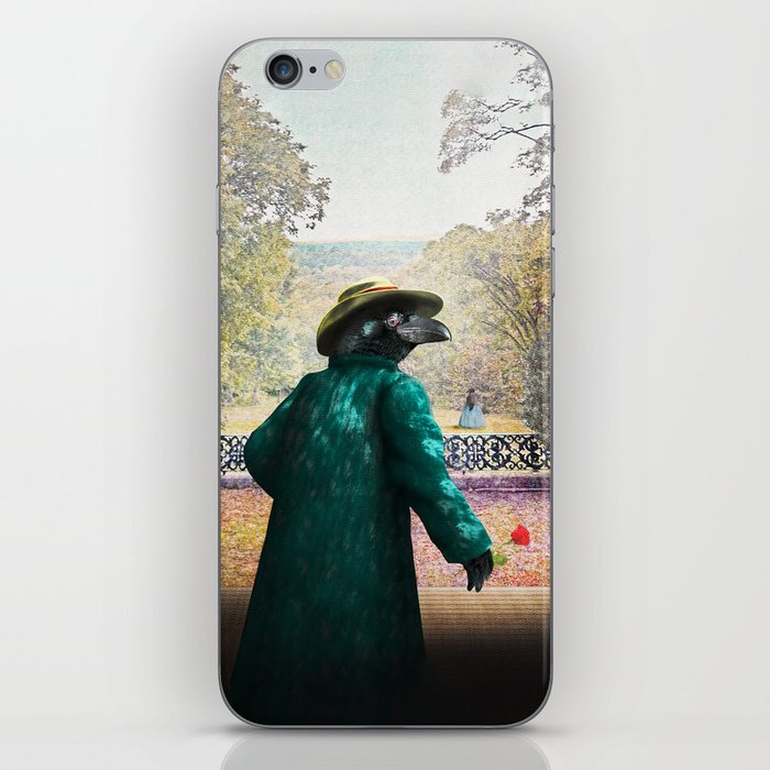 Ronaldo Raven on his way to a Romantic Rendezvous iPhone Skin