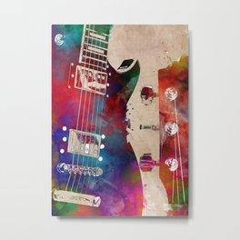 Guitar art 18 #guitar #music Metal Print