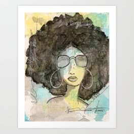 Dope Girl Art Print