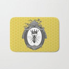 Queen Bee | Vintage Bee with Crown | Honeycomb | Bath Mat