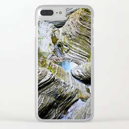 Curves Of Time Clear iPhone Case