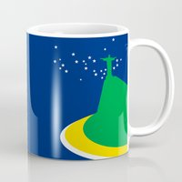 brazil Mugs featuring BRAZIL by Marcus Wild