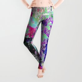 Bright Paint Peeling Leggings
