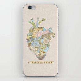 A Traveler's Heart iPhone Skin