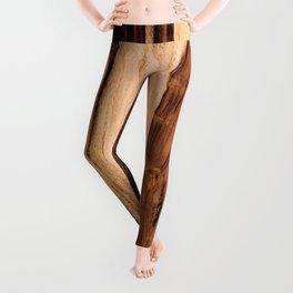 Sheesham Wood Grain Texture, Close Up Leggings