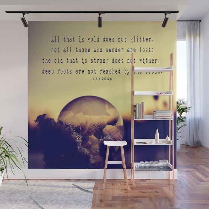 Bubble at Sunrise Wall Mural