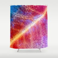 leaf Shower Curtains featuring leaf by Joao Bizarro