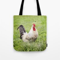 cock Tote Bags featuring cock by Garpa