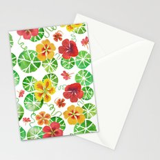 Watercolor Nasturtiums Stationery Cards