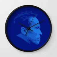 arnold Wall Clocks featuring Arnold Schwarzenegger by Vector Vectoria