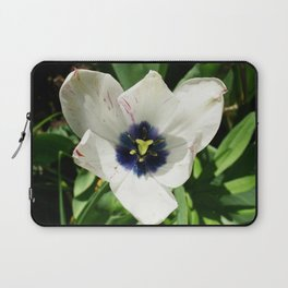 Blue Centered Tulip Laptop Sleeve