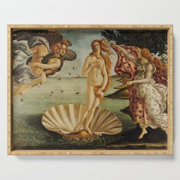 The Birth of Venus by Sandro Botticelli Serving Tray