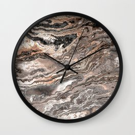 Brown Marble Texture Wall Clock