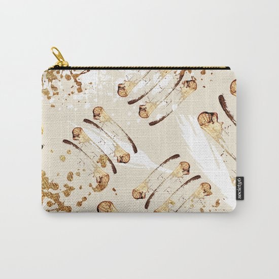 Feather peacock gold #4 Carry-All Pouch