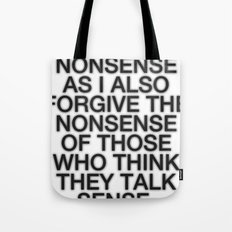 Nonsense Tote Bag