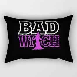 Bad Witch Funny Halloween Rectangular Pillow